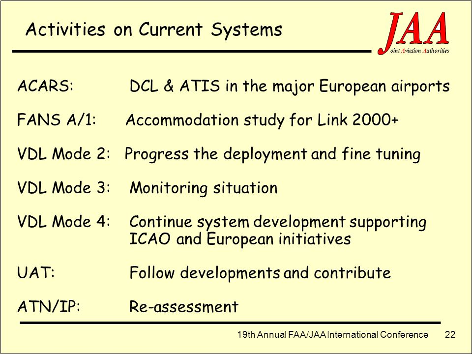 Activities on Current Systems