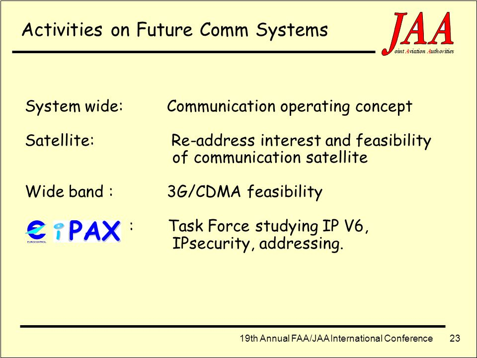 Activities on Future Comm Systems