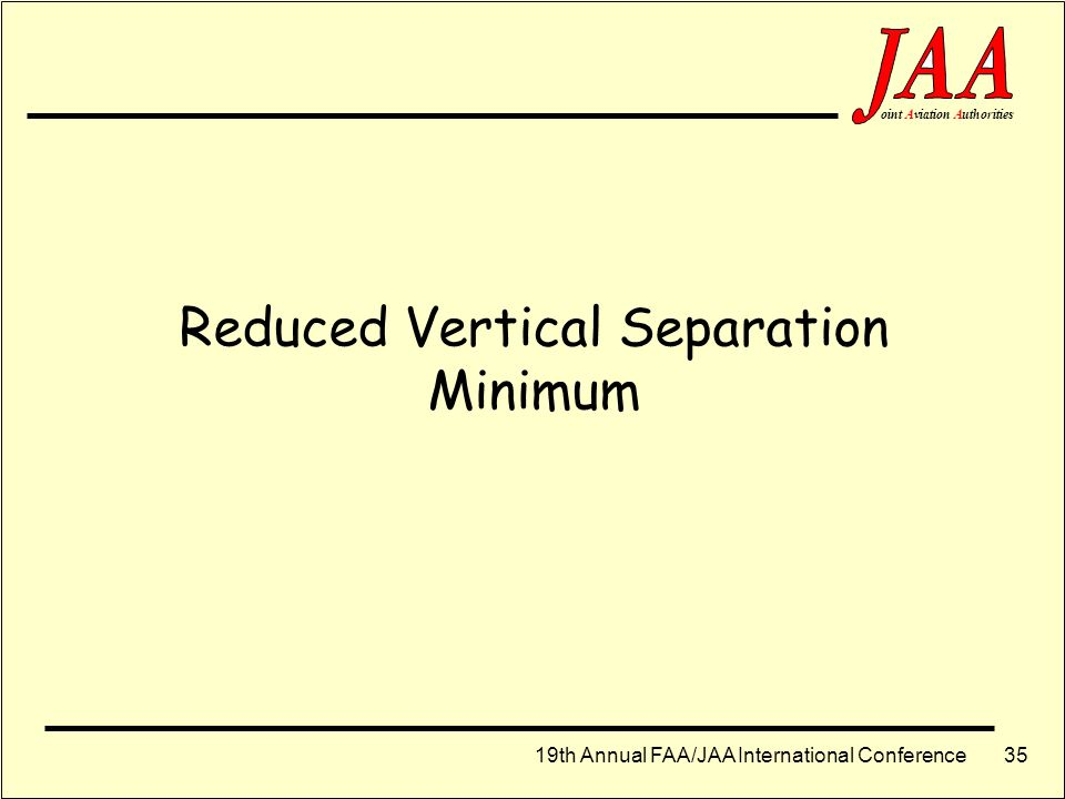 Reduced Vertical Separation Minimum