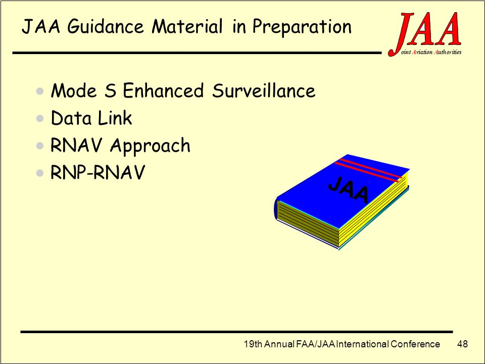JAA JAA Guidance Material in Preparation Mode S Enhanced Surveillance