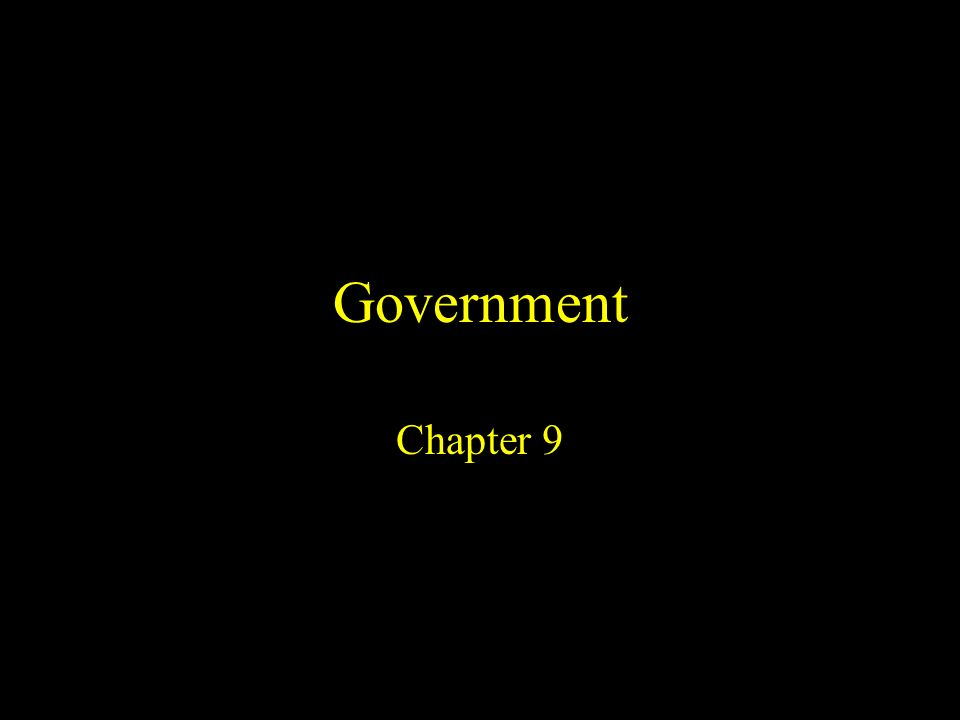 Government Chapter 9