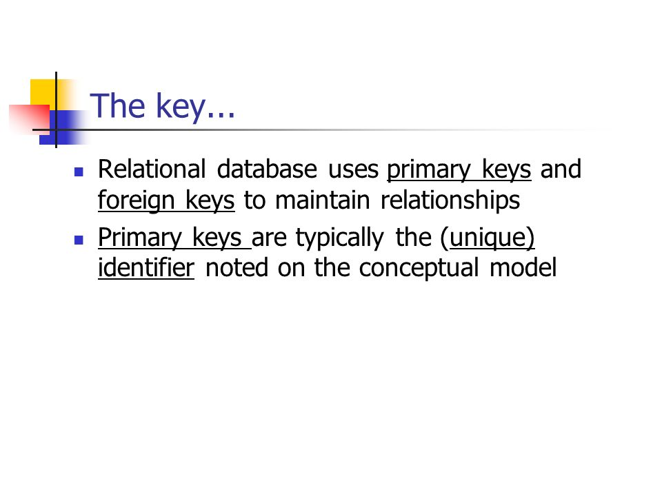 Mapping From Data Model Erd To Relational Model Ppt Download