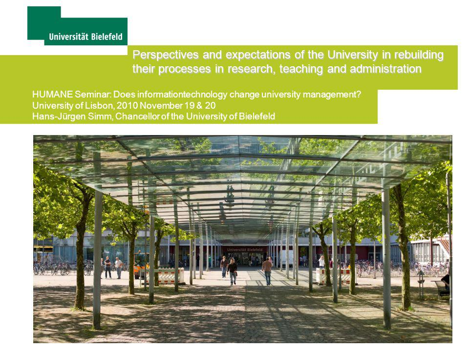 Perspectives and expectations of the University in rebuilding their processes in research, teaching and administration