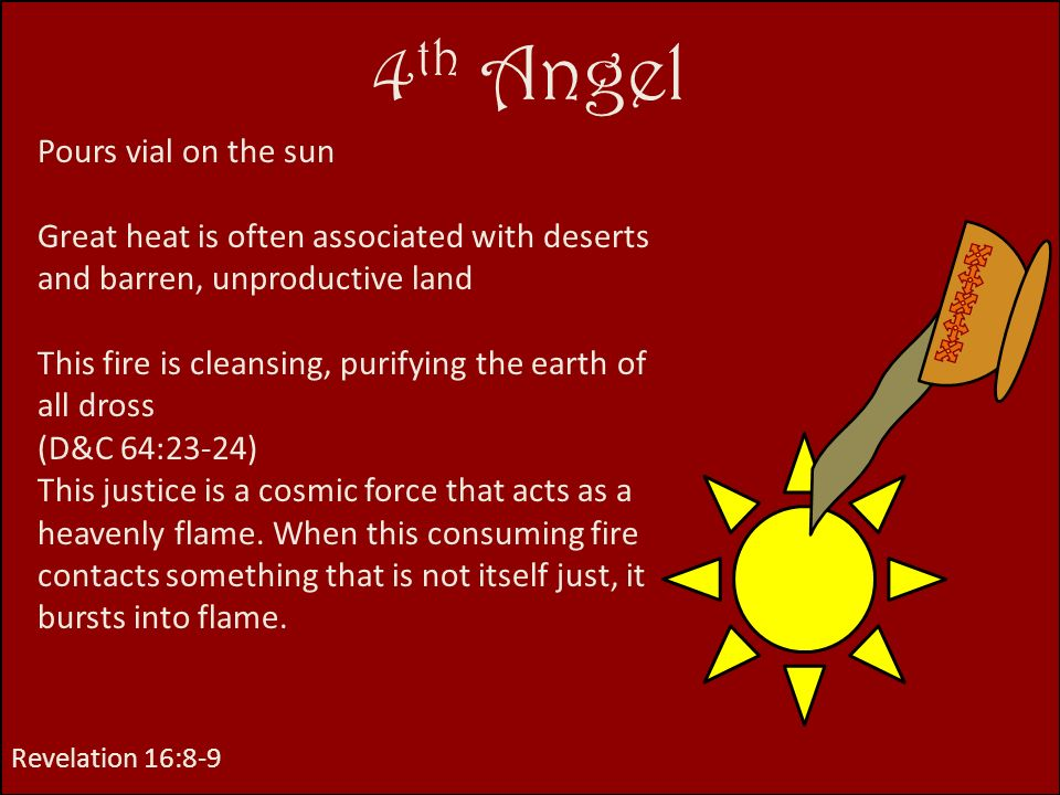 4th Angel Pours vial on the sun