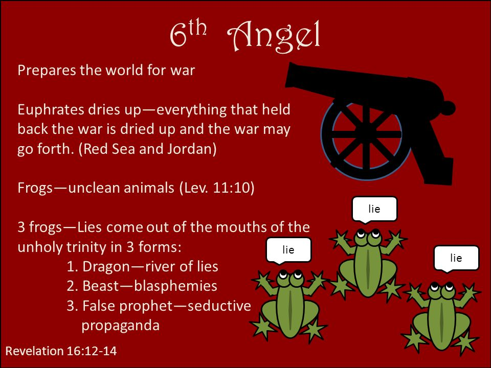 6th Angel Prepares the world for war