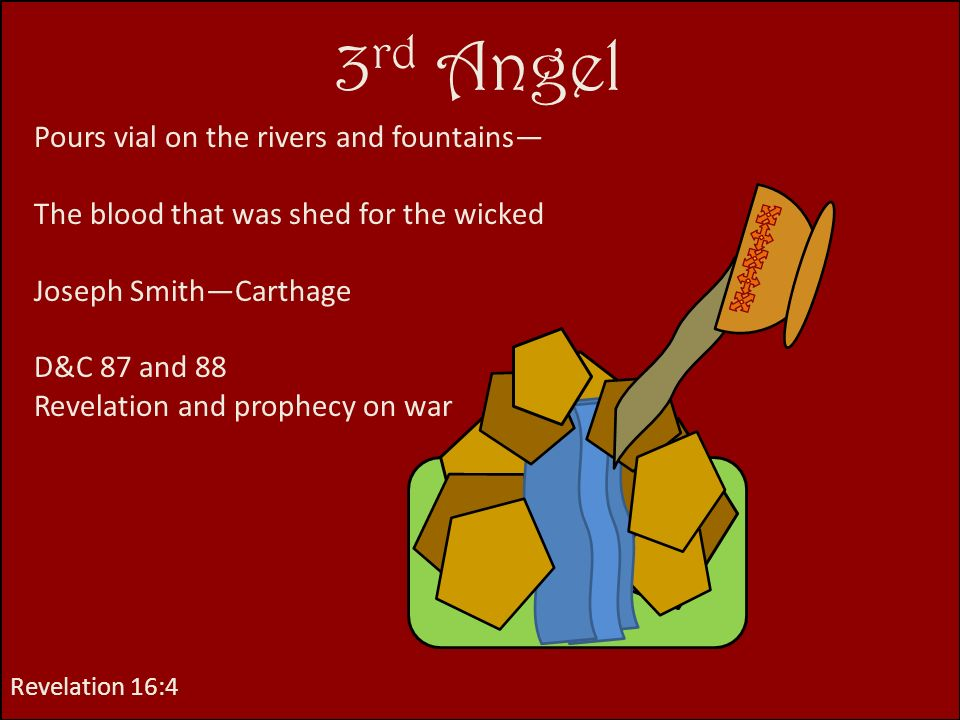 3rd Angel Pours vial on the rivers and fountains—