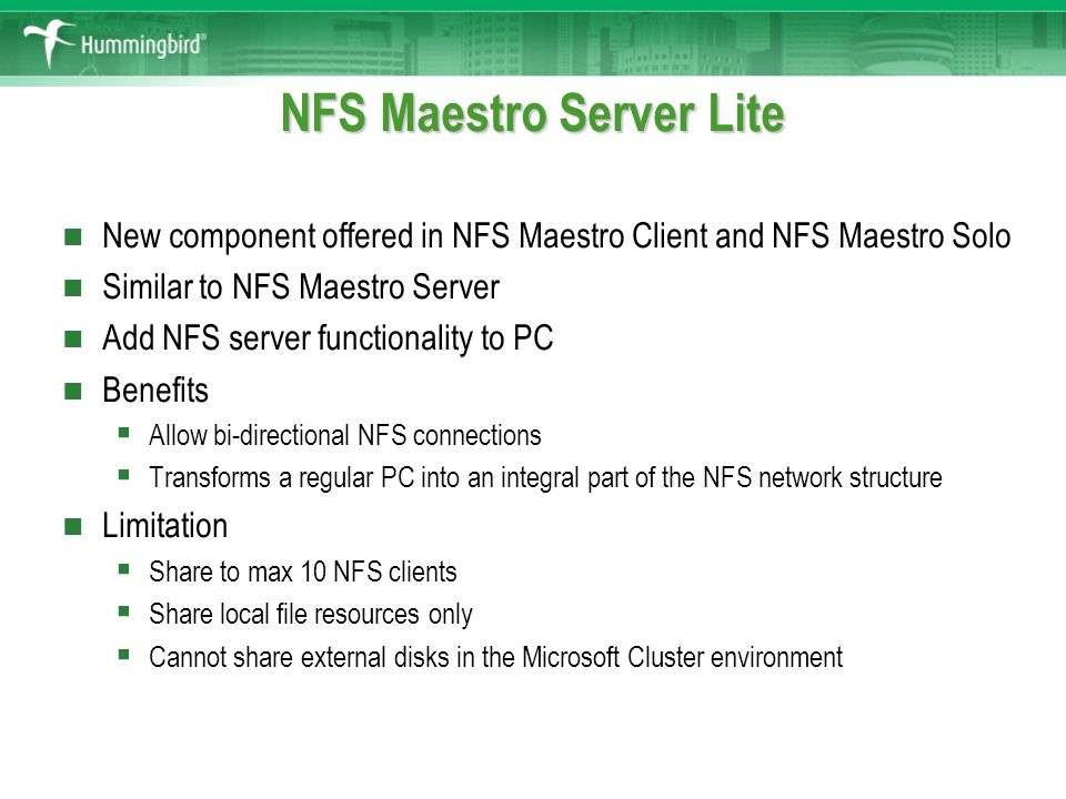 NFS Maestro 10 Slides Database - ppt video online download