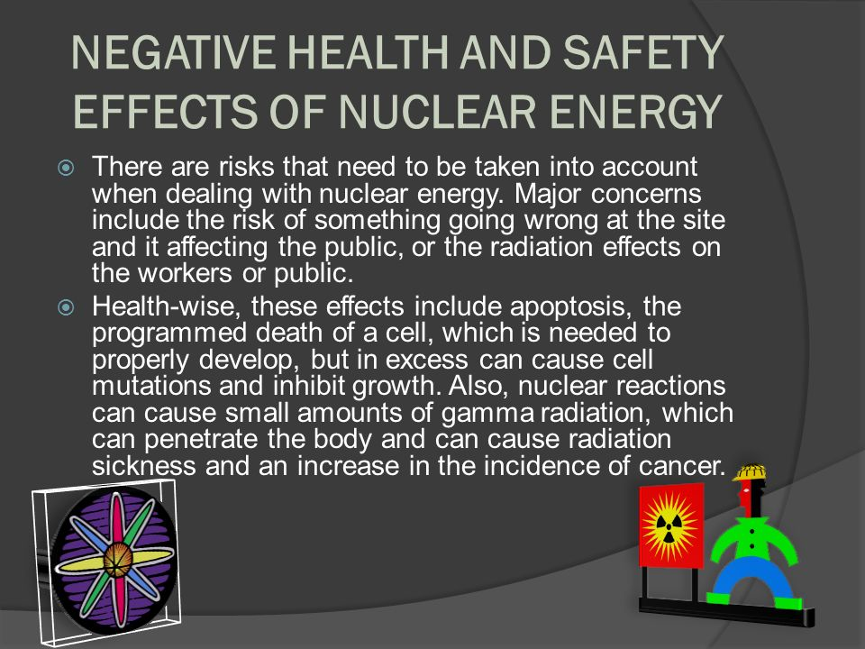 the negative impacts of nuclear energy Solar energy is considered a sustainable energy supply technology however, the production technology for solar modules (which are used to convert energy into power) requires relatively high energy outputs the predominant negative environmental impacts of solar energy come from producing the solar panels.