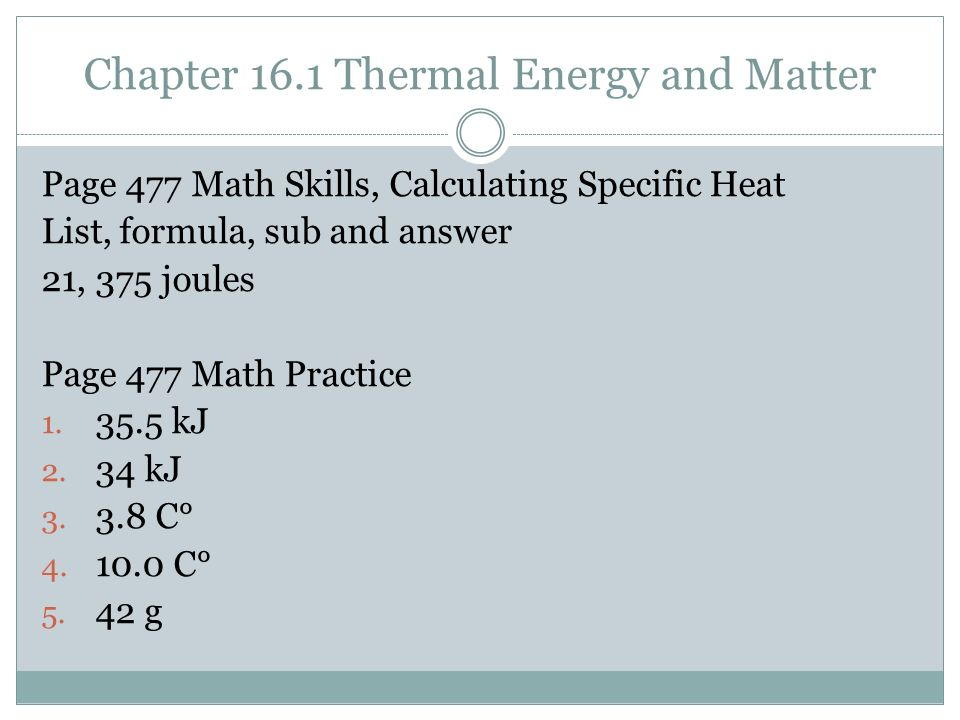 16 1 Thermal Energy And Matter Answers