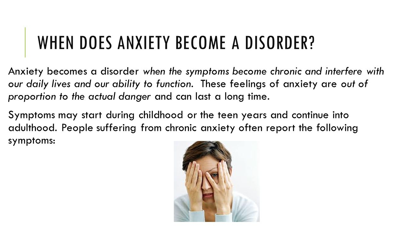 When Anxiety Becomes a Disorder