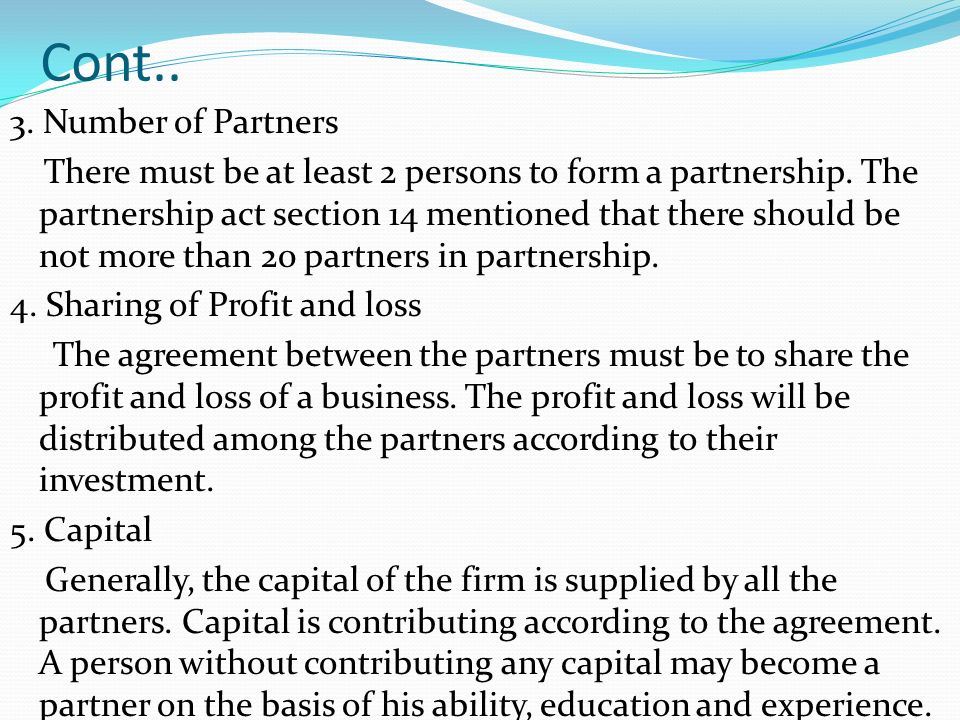 Business Law Chapter 6 Law Of Partnership Ppt Video Online Download