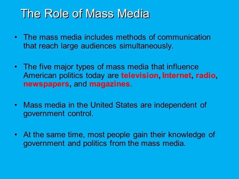 how does the media influence politics