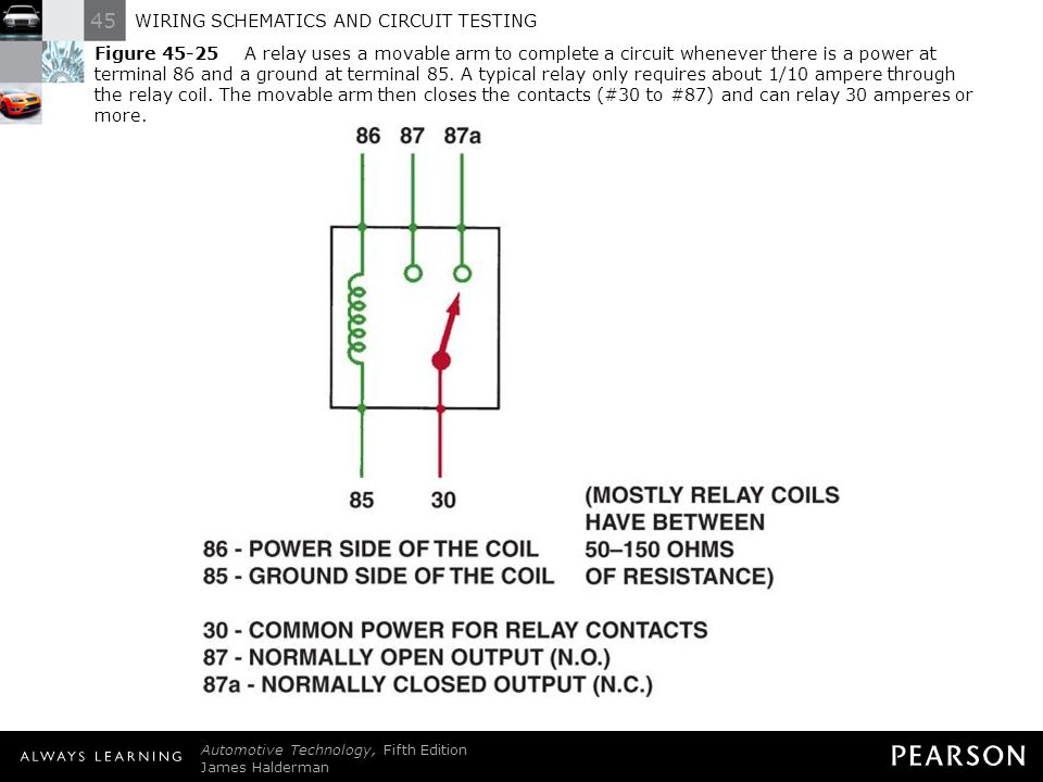 wiring schematics and circuit testing ppt download 4 pole relay wiring 30 figure a relay