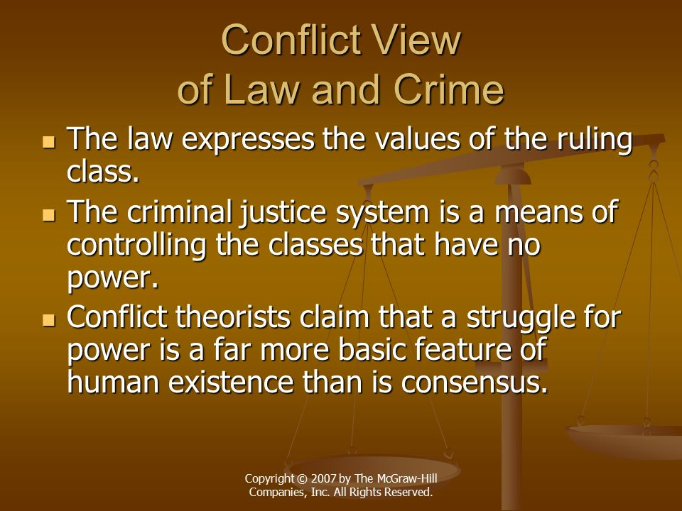 Conflict View of Law and Crime