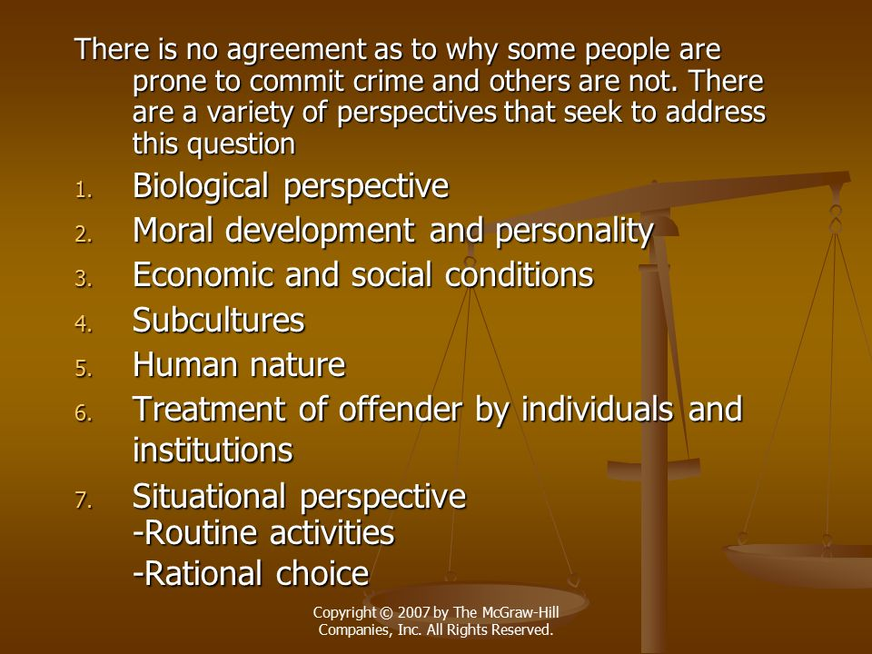 Biological perspective Moral development and personality