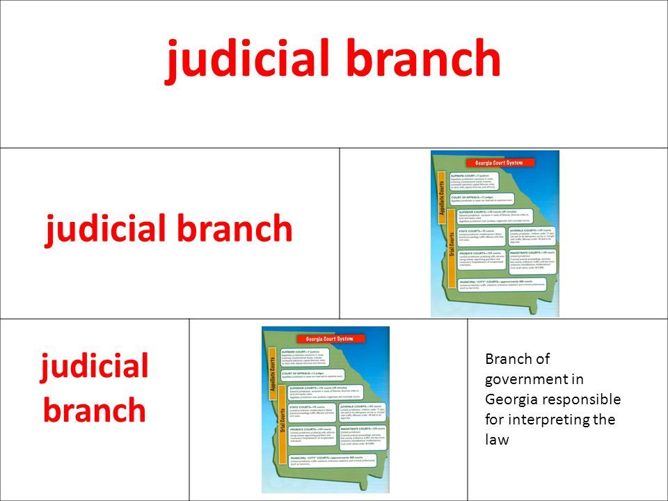 judicial branch Branch of government in Georgia responsible for interpreting the law