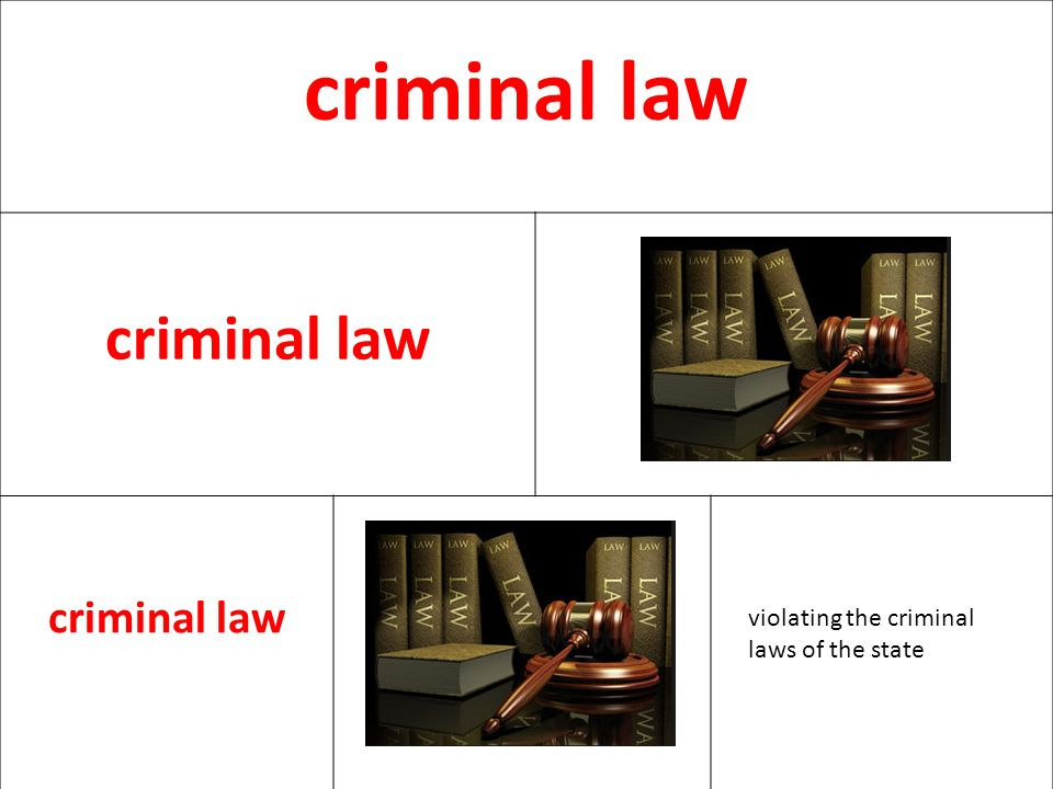 criminal law violating the criminal laws of the state