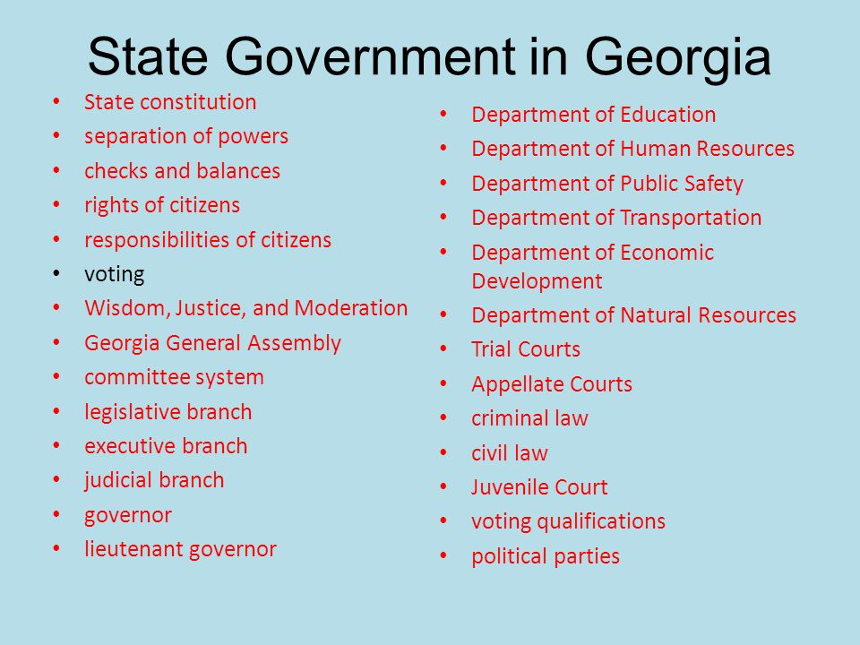 State Government in Georgia