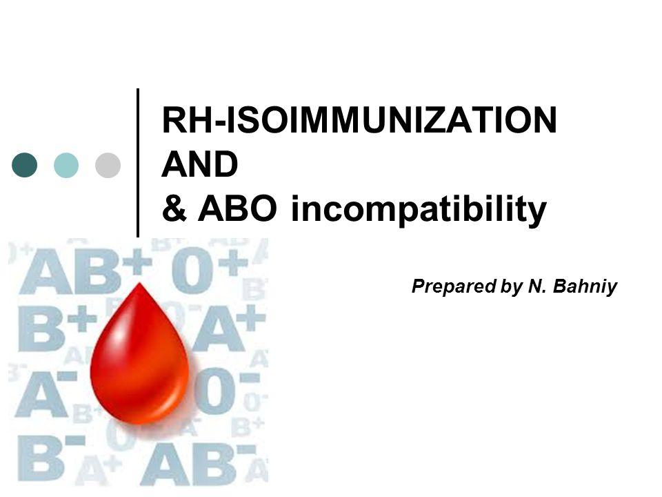 RH-ISOIMMUNIZATION AND & ABO incompatibility