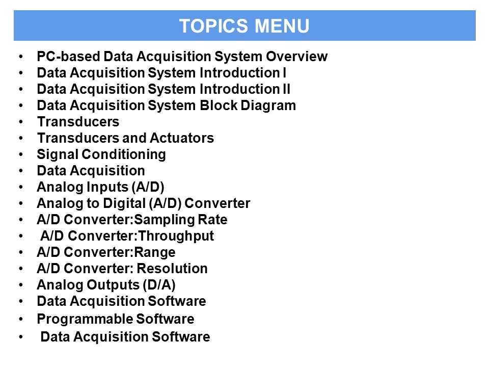 Basics Of Data Acquisition Systems Ppt Video Online Download
