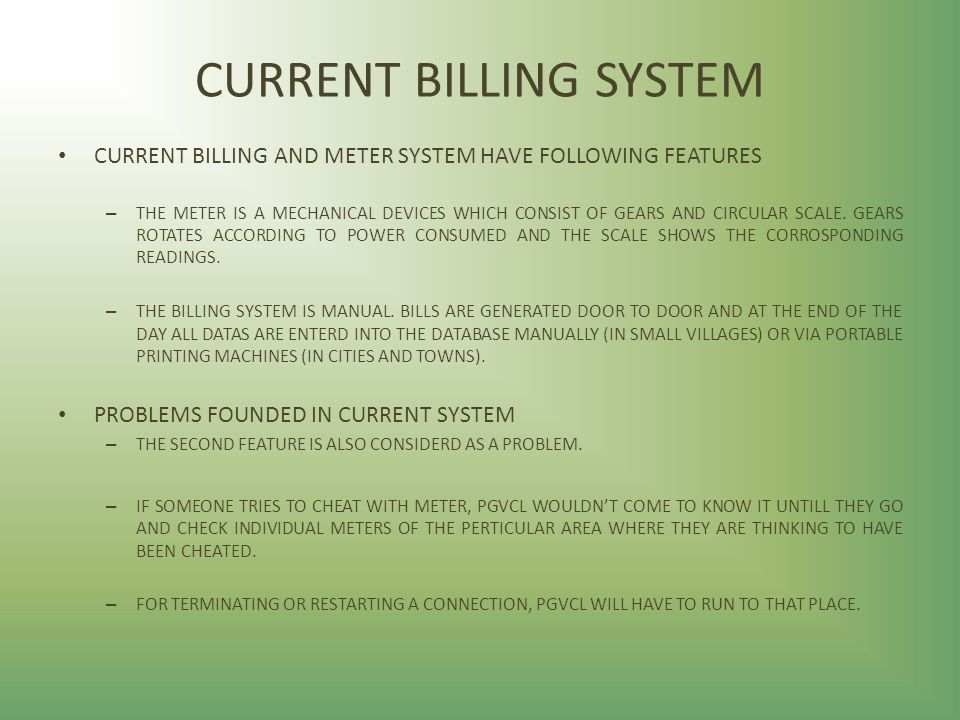 manual billing system problems Utility billing suite: flexible and complete straightforward, yet flexible it really makes life easy for you and your customers easily configured as a complete end-to-end billing wizard, or for third-party billing.