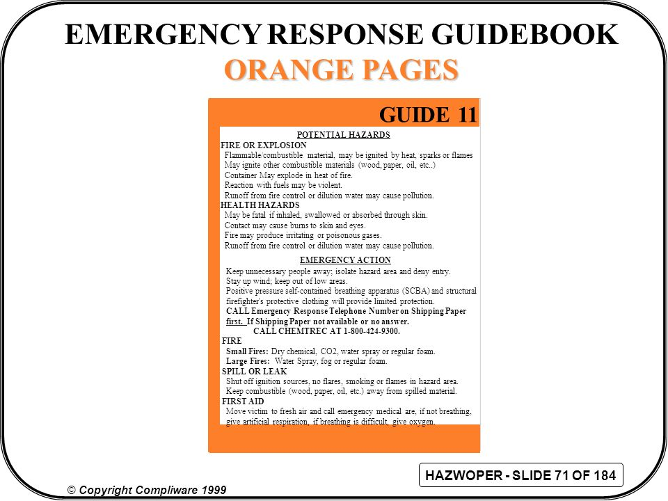 emergency response guide 173 material professional user manual rh gogradresumes com Emergency Response Procedures Emergency Response Book