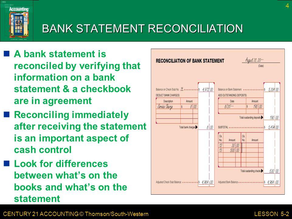 lesson 5 2 bank reconciliation ppt download