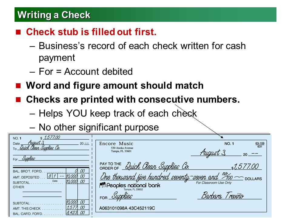 Chapter 6 Cash Control Systems Ppt Video Online Download - Check-filled-out