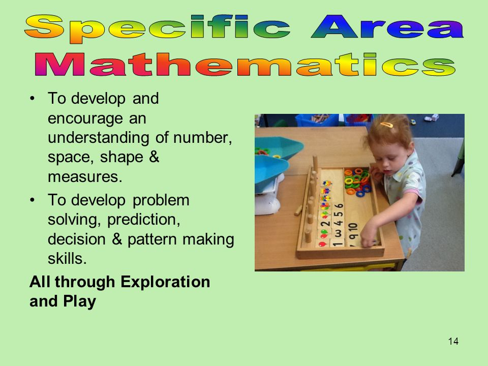 Specific Area Mathematics
