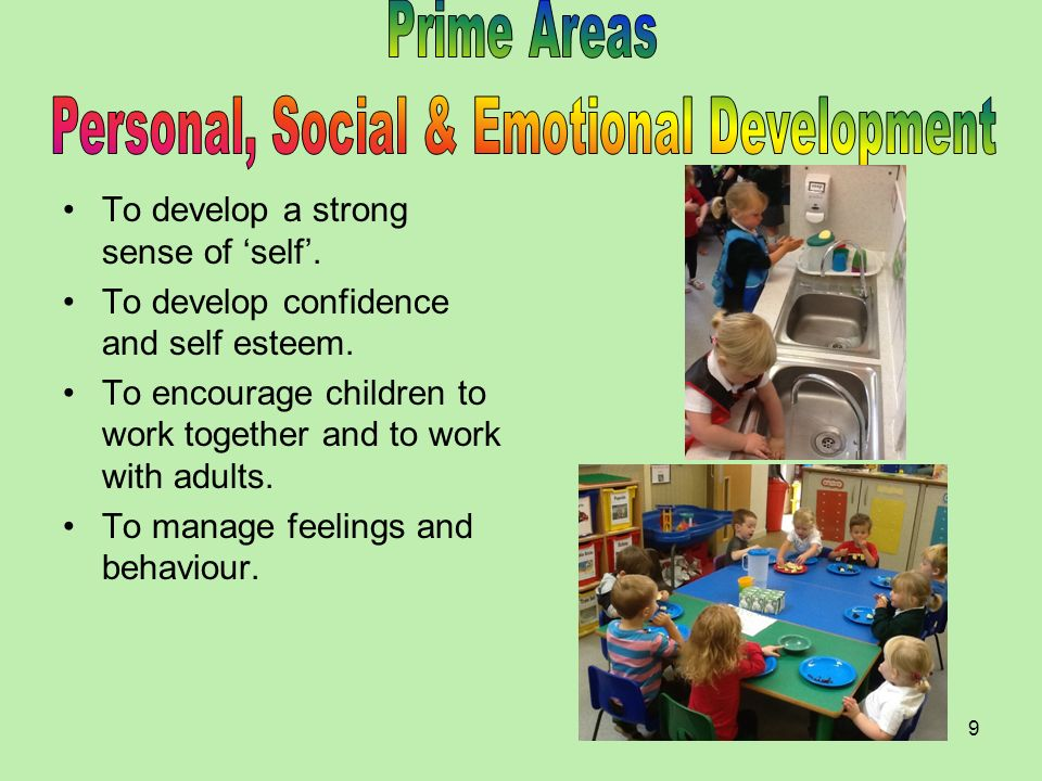 Personal, Social & Emotional Development
