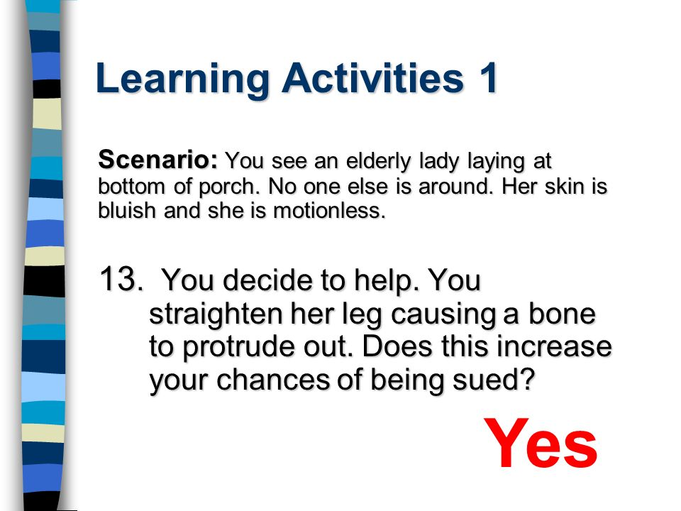 Yes Learning Activities 1
