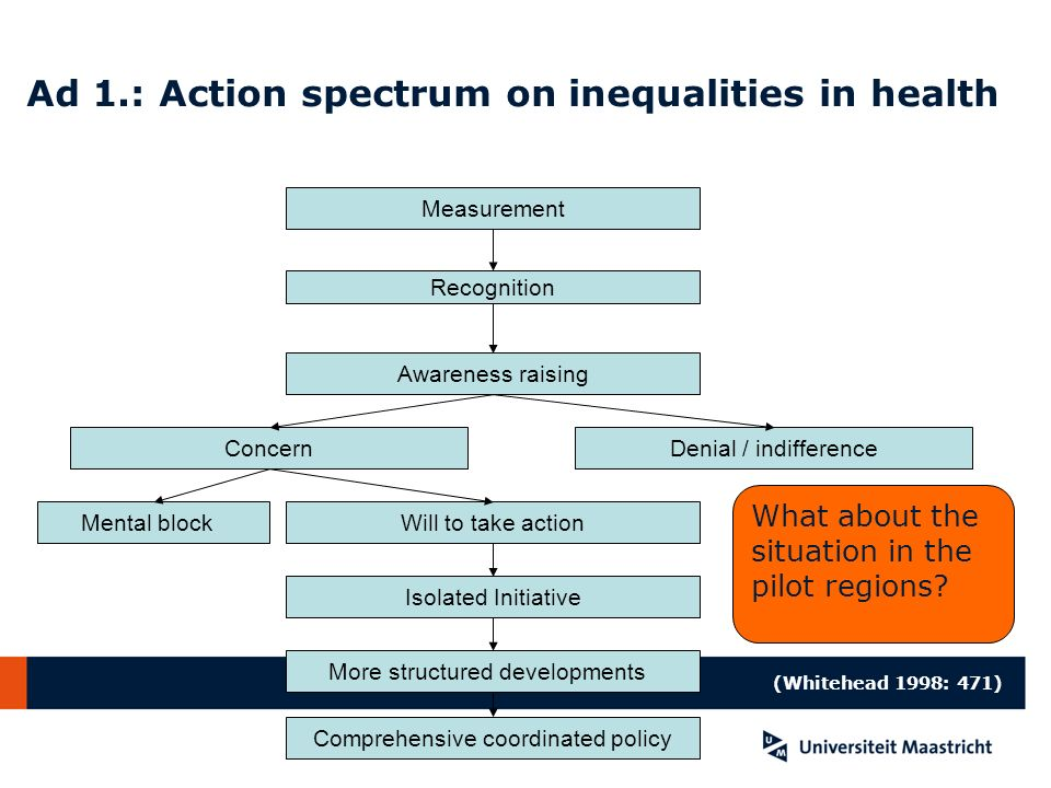 Ad 1.: Action spectrum on inequalities in health