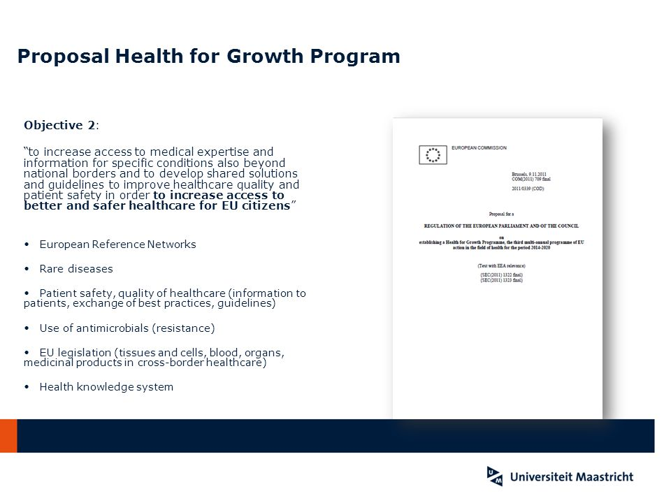 Proposal Health for Growth Program