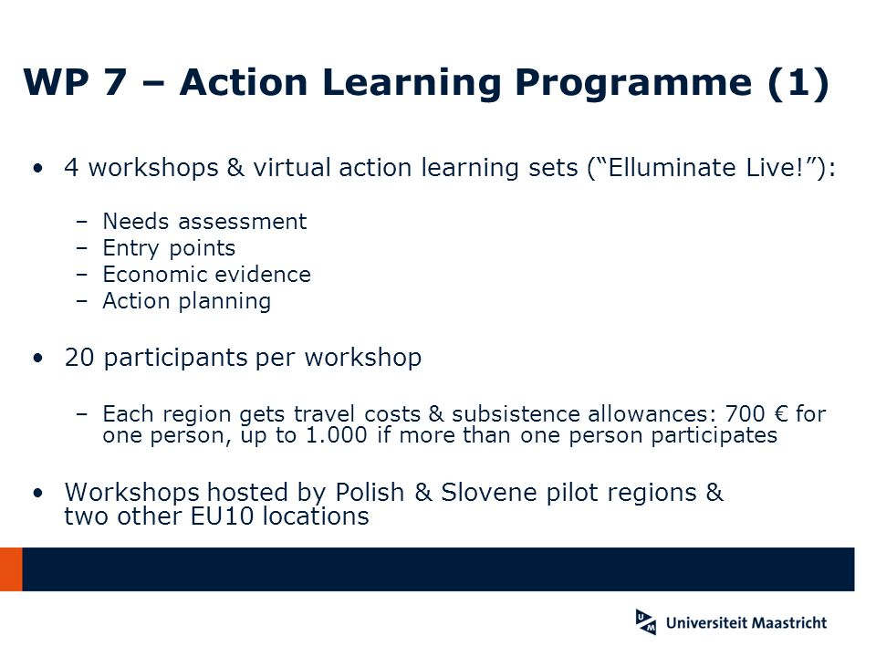 WP 7 – Action Learning Programme (1)