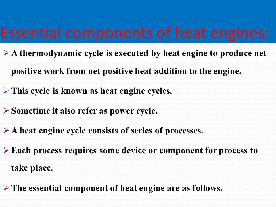 Thermodynamics of power plant.