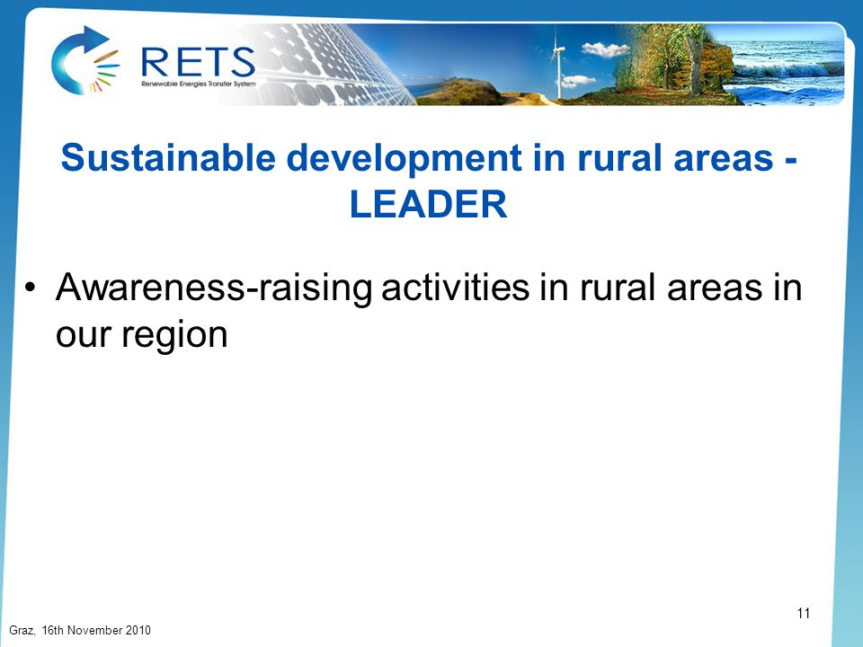 Sustainable development in rural areas - LEADER