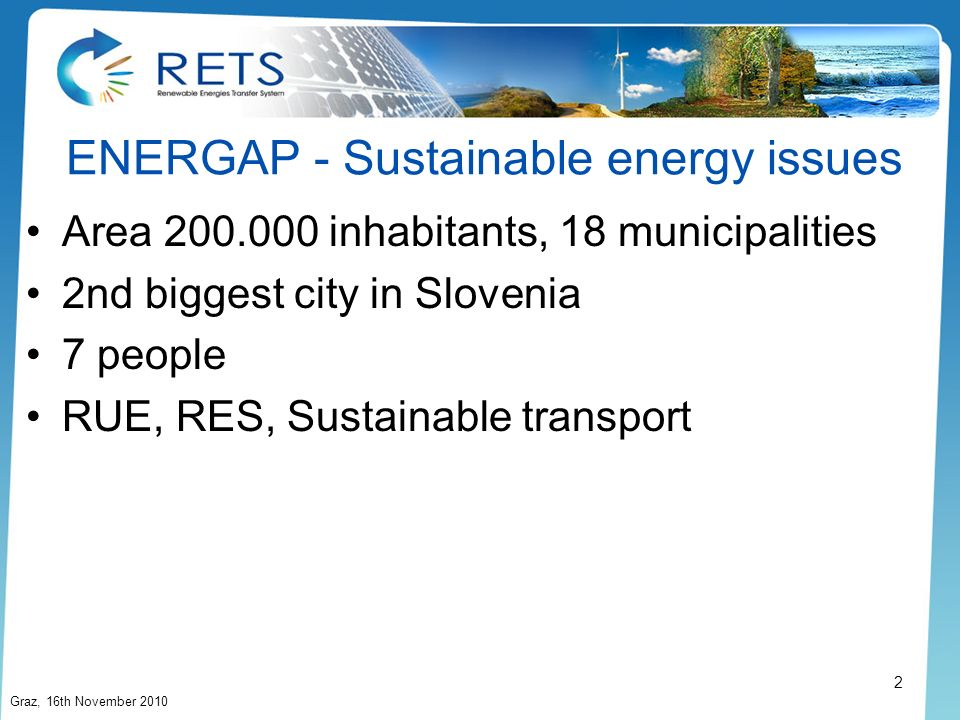 ENERGAP - Sustainable energy issues