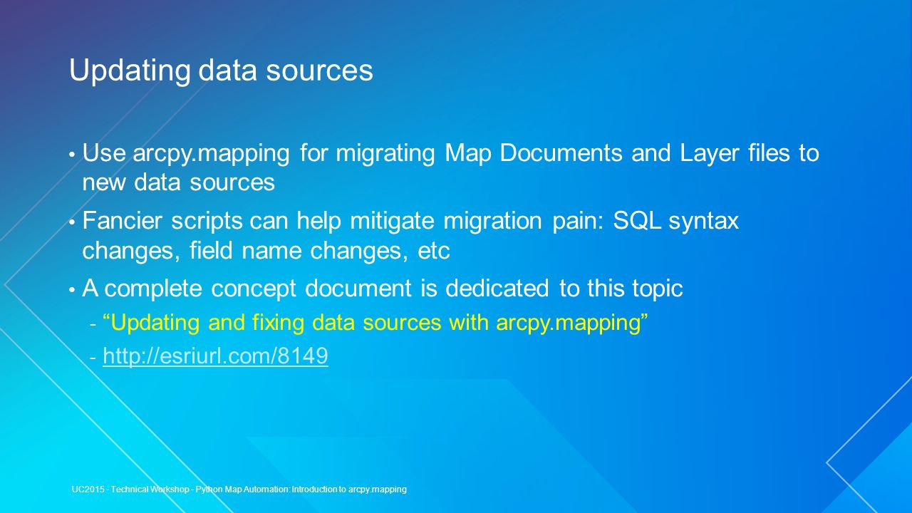 Python Map Automation: Introduction to arcpy mapping / arcpy