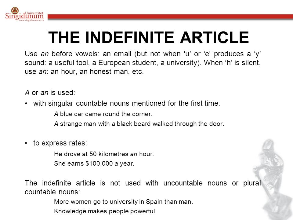 the indefinite article ppt download