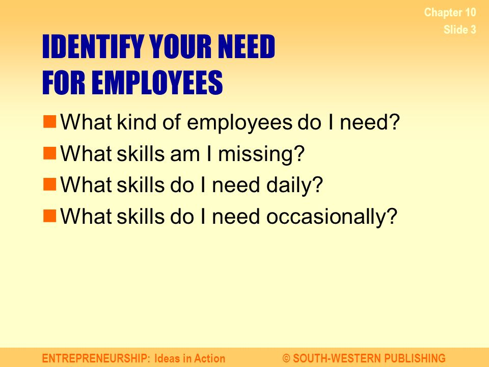 Identify Employees With Your 10 Ideas