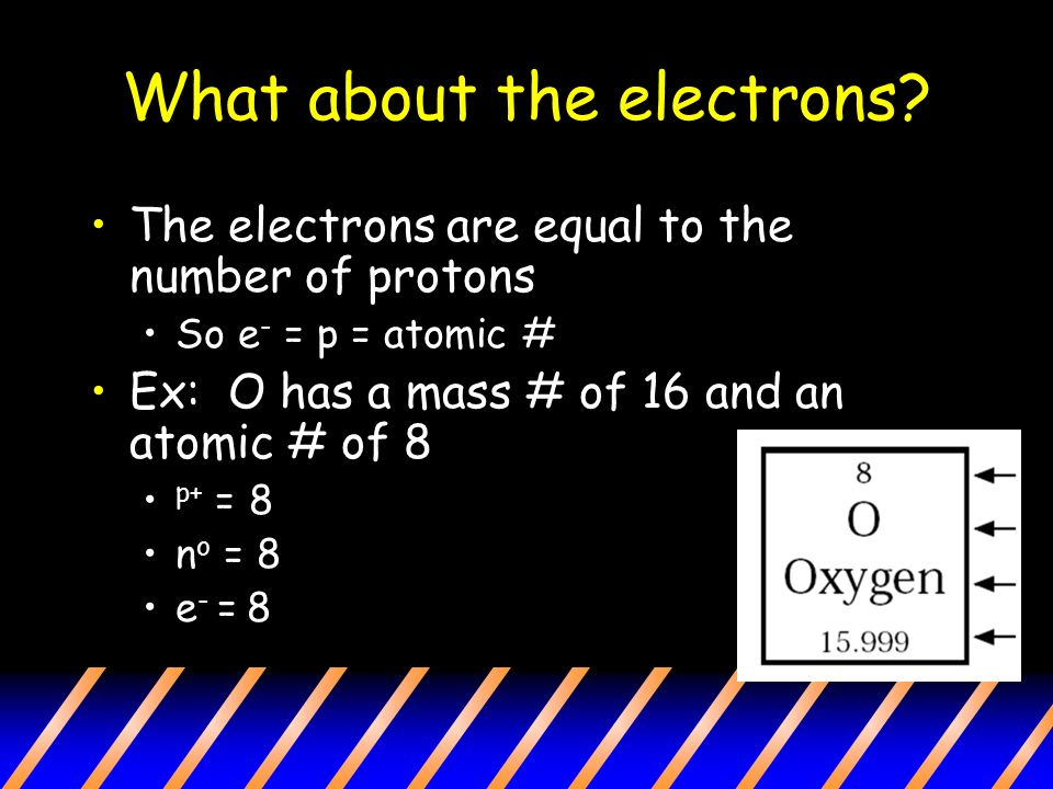 What about the electrons