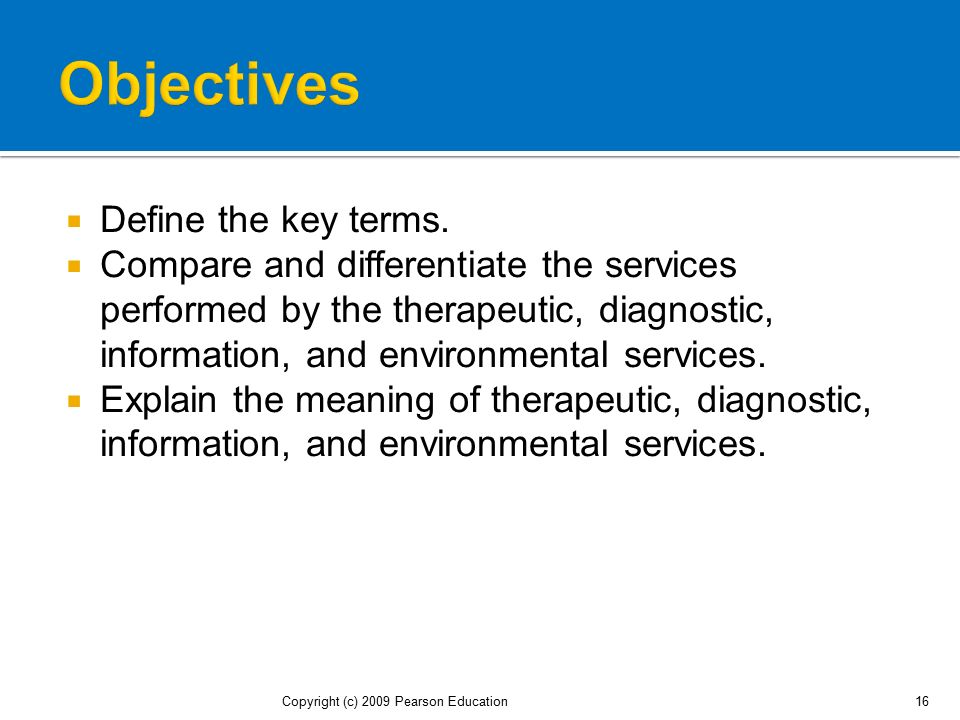 Objectives Define the key terms.
