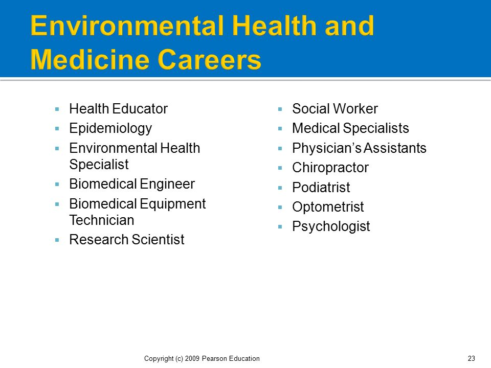 Environmental Health and Medicine Careers