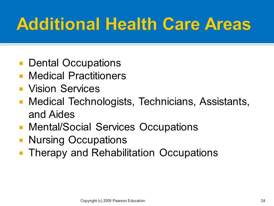 Additional Health Care Areas