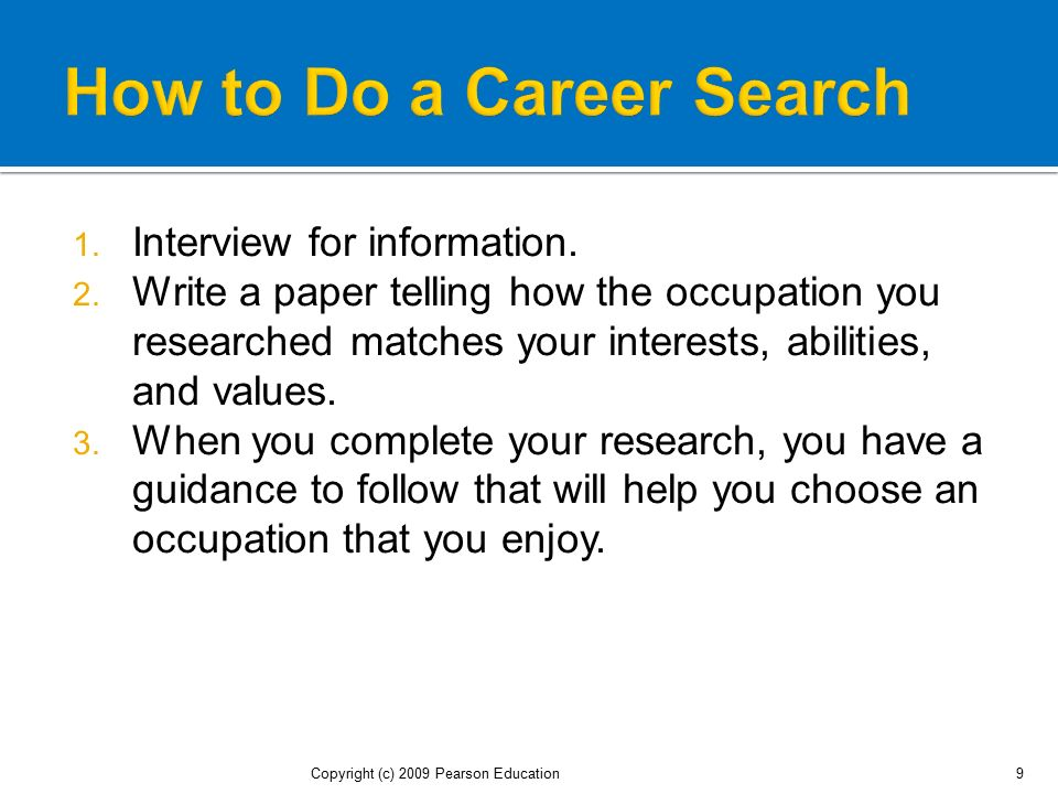 How to Do a Career Search