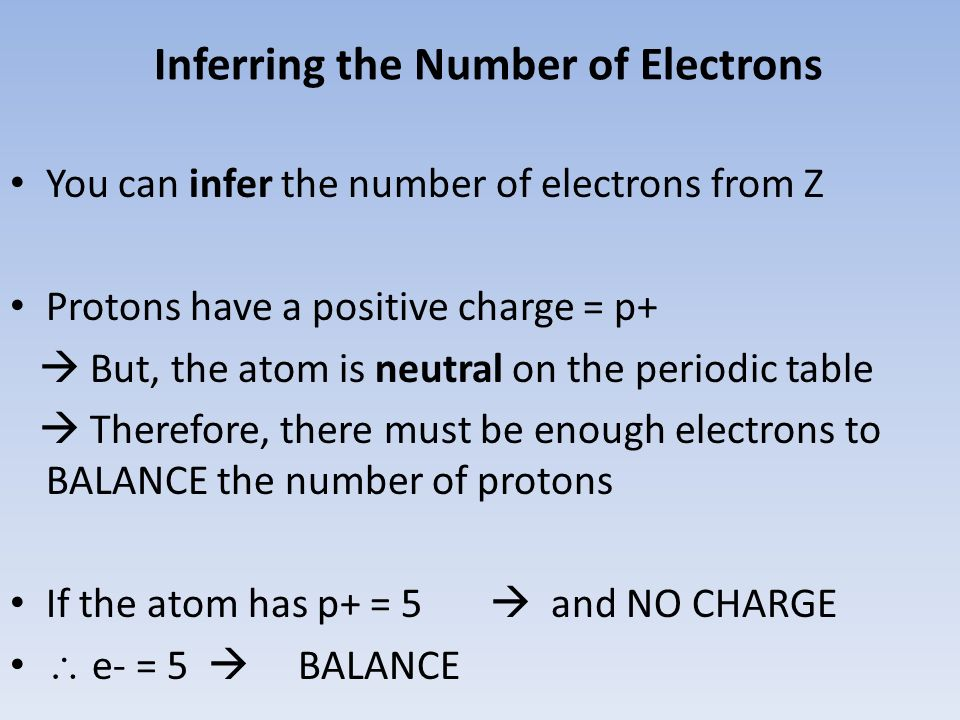 Inferring the Number of Electrons