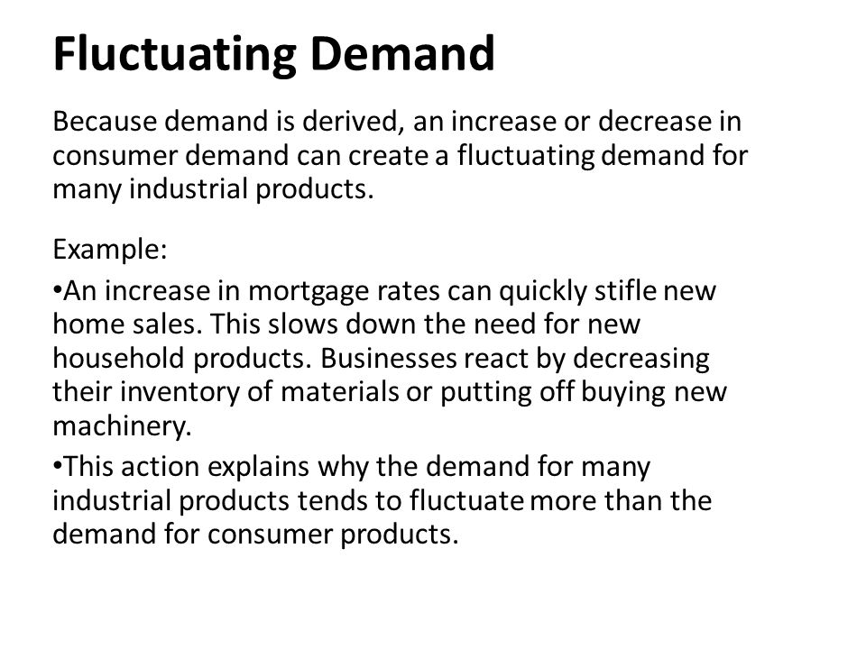 what is fluctuating demand