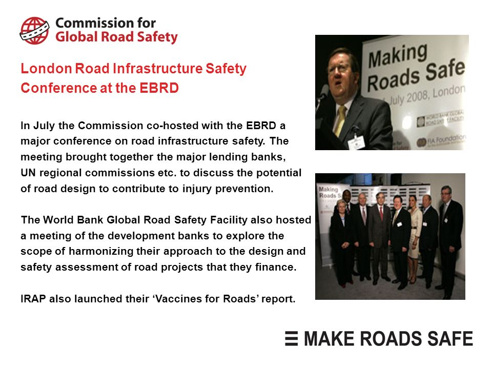 London Road Infrastructure Safety Conference at the EBRD