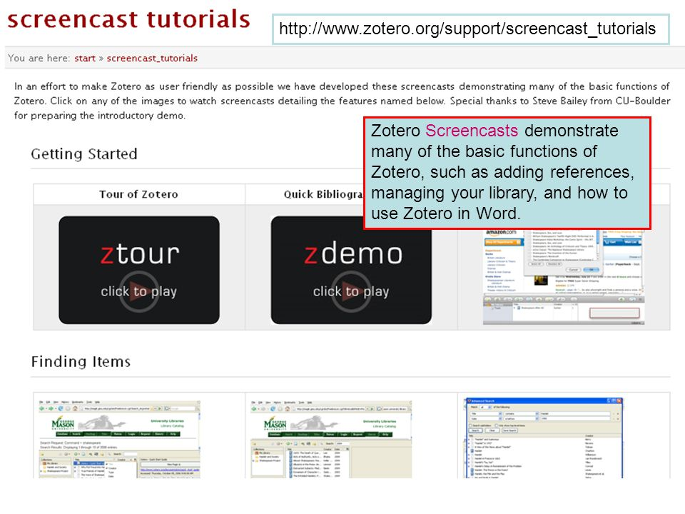 http://www.zotero.org/support/screencast_tutorials