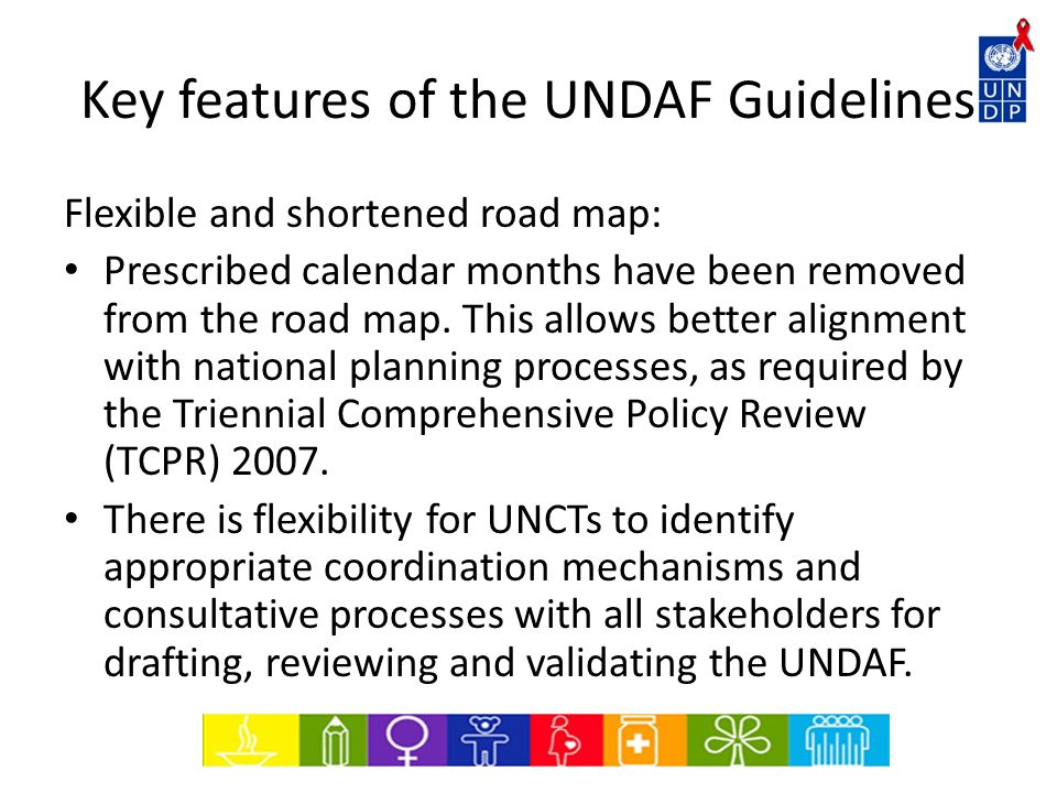 Key features of the UNDAF Guidelines